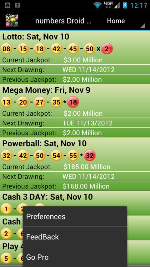 Texas Lottery Droid Lite - screenshot
