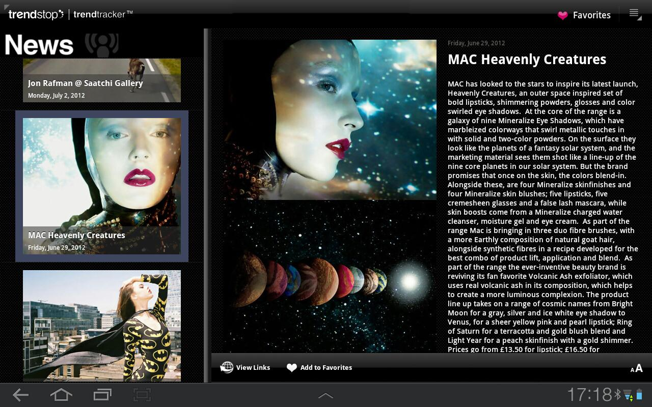 Trendstop.com for Tablet & TV - screenshot