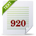 920 Text Editor logo