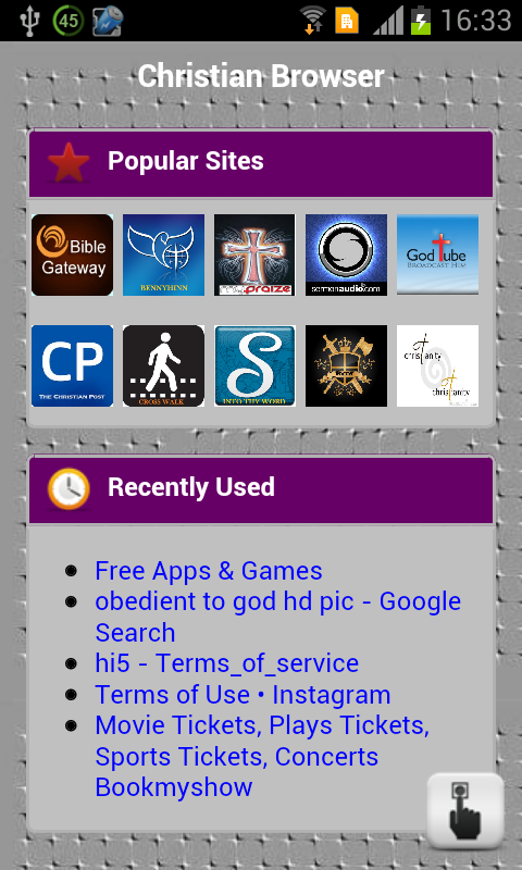 Christian Browser - screenshot