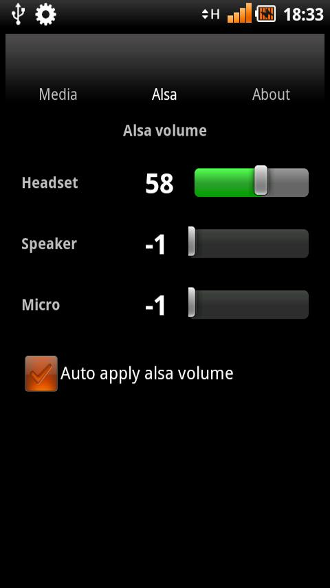 MixGet, mixer widget with alsa- screenshot