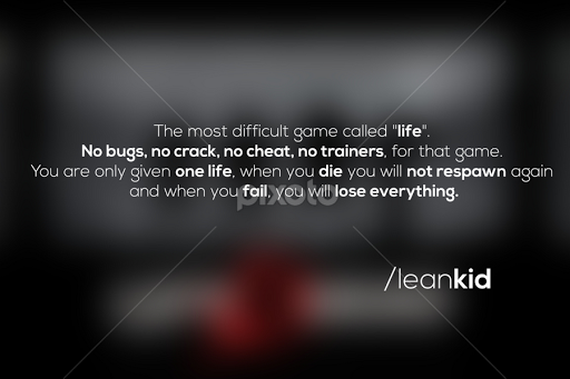 Game Called Life Quotes Sentences Typography Pixoto