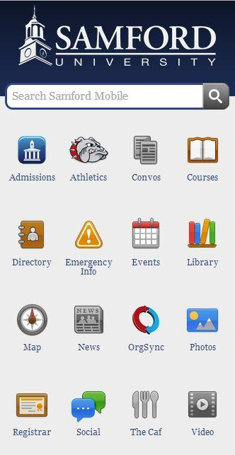 Samford University Mobile - screenshot