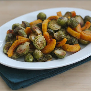 Easy Roasted Brussels Sprouts and Squash