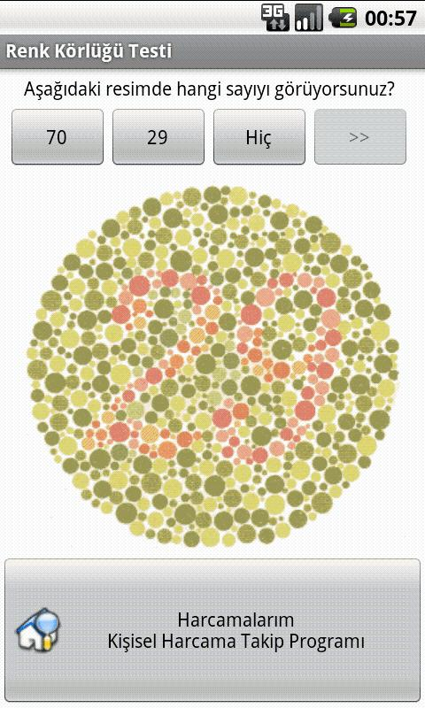 Color Blindness Test - screenshot