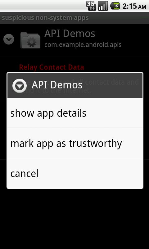 App Permission Watcher - screenshot