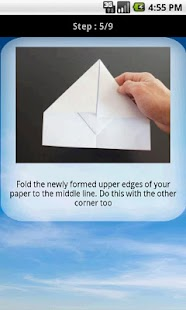 Paper aeroplane instructions - screenshot thumbnail