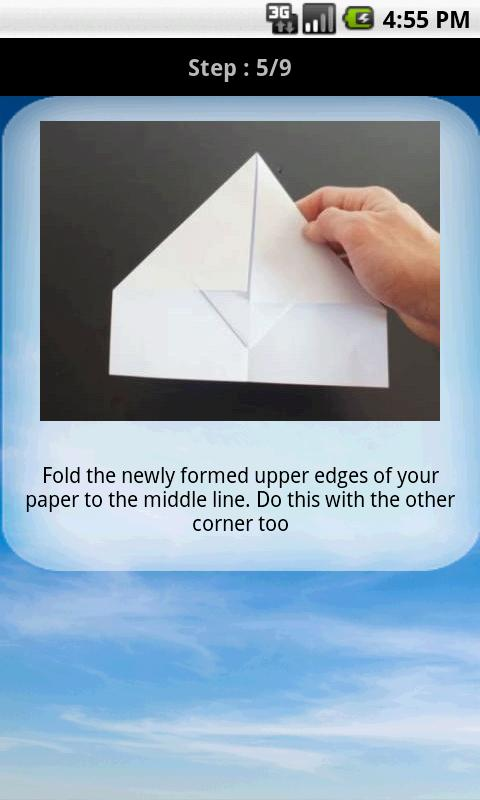 Paper aeroplane instructions- screenshot