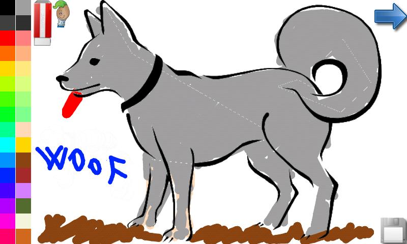 Coloring Book Dogs FREE Screenshot