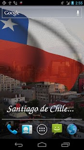 3D Chile Flag Live Wallpaper - screenshot thumbnail