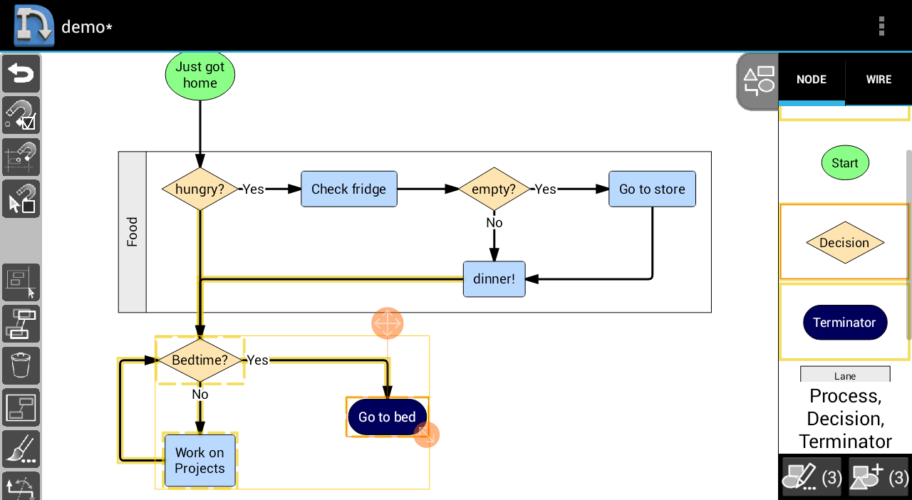 nodescape free diagram tool android apps on google play