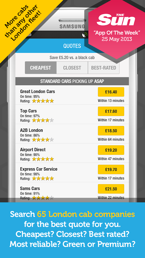 Kabbee - book London minicabs - screenshot