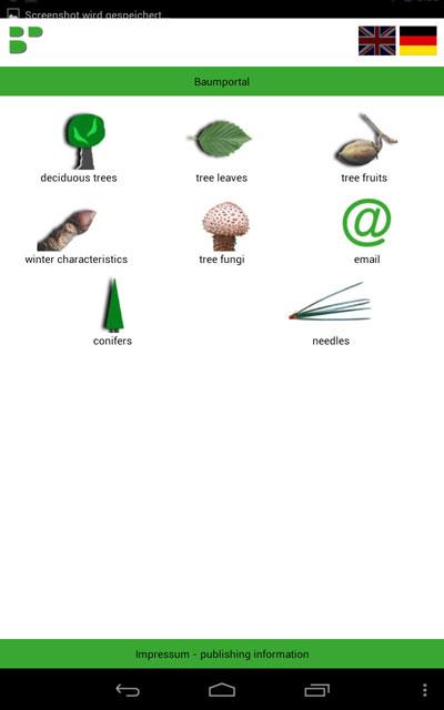 Tree Identification- screenshot