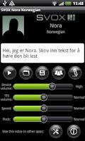 Screenshot of SVOX Norwegian Nora Trial