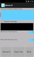 Screenshot of Morse It !