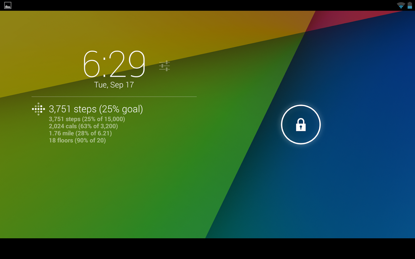 DashClock Fitbit Extension- screenshot