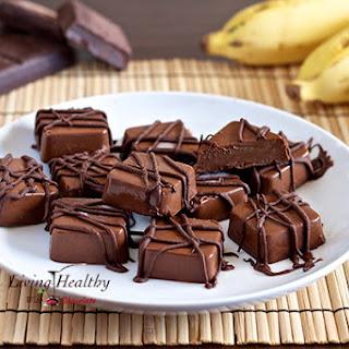 Frozen Peanut Butter, Chocolate & Banana Fudge Bites (paleo, gluten, grain, nut & peanut free).