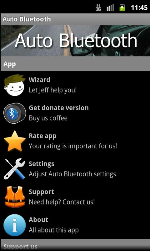 Auto Bluetooth - screenshot