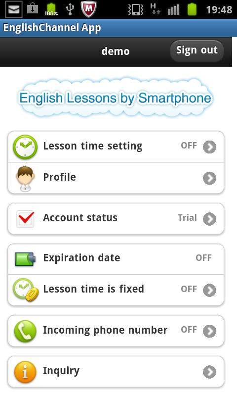 English Lessons by Sp forJ2- screenshot