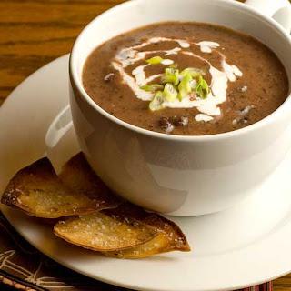 Gluten Free Blender Black Bean Soup