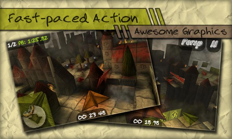 Paper Race HD - screenshot