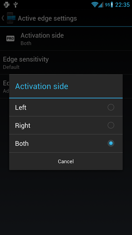 Edge Pro: Quick Actions - screenshot
