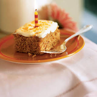 Carrot Sheet Cake with Cream Cheese Frosting.