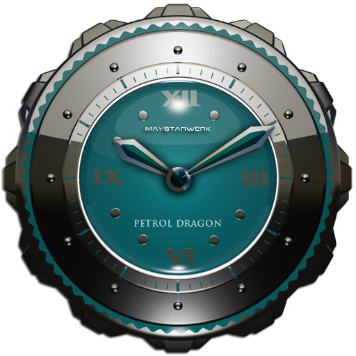 Dragon Clock Widget petrol