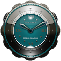 Dragon Clock Widget petrol icon