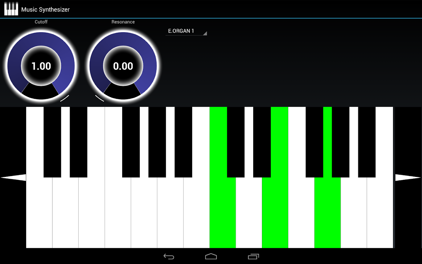 Music Synthesizer for Android- screenshot