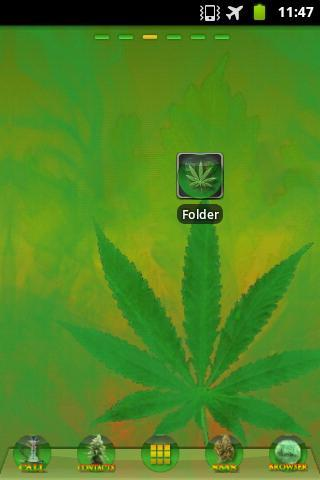 Ganja Theme GO Launcher EX - screenshot