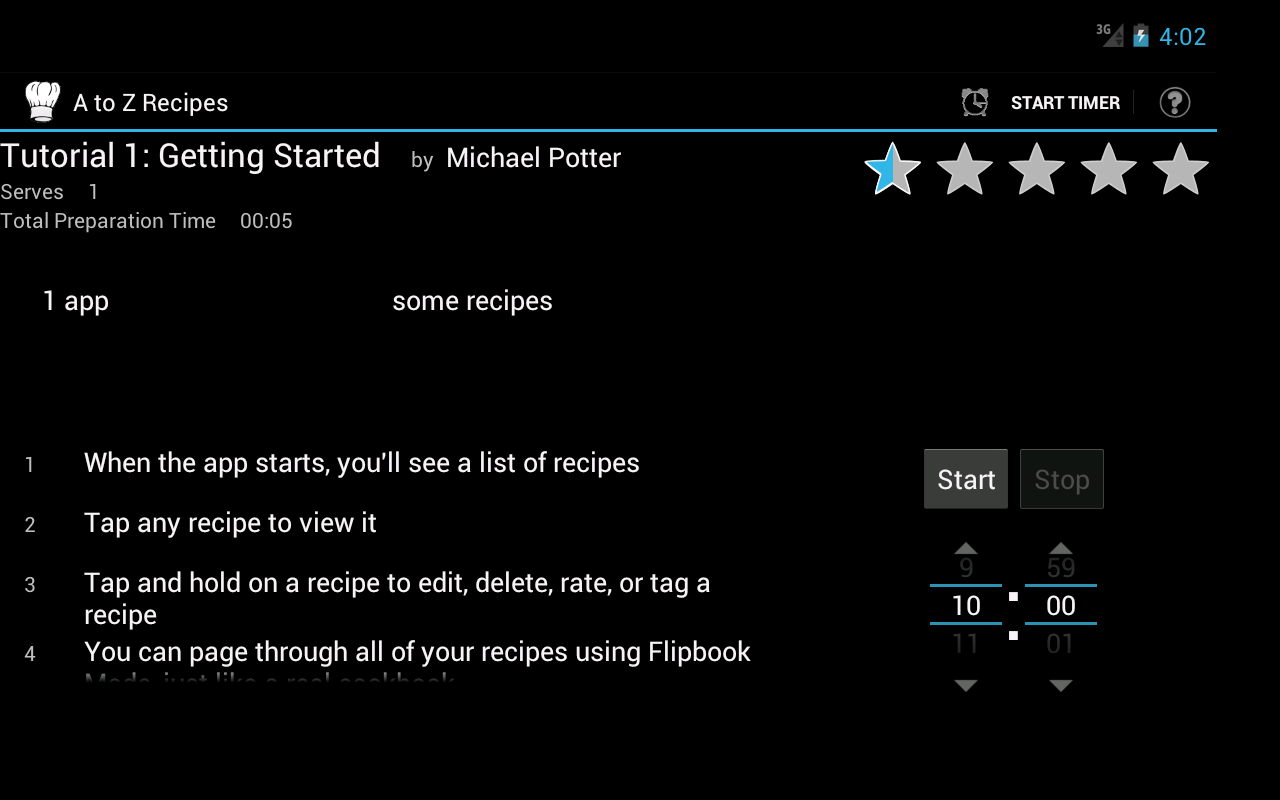 A to Z Recipes- screenshot