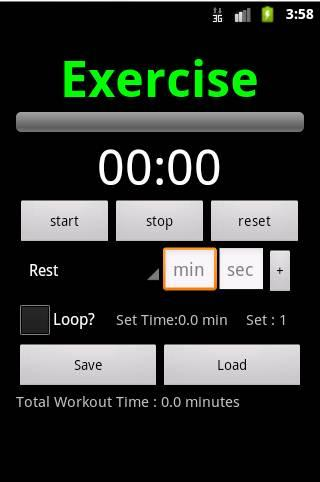 Workout Planner Stopwatch