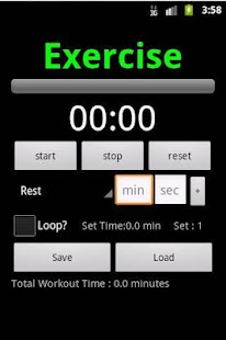 Workout Planner Stopwatch - screenshot thumbnail