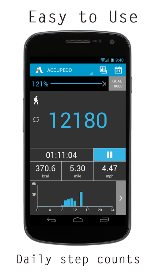 Accupedo Pedometer - screenshot