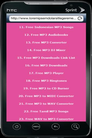Free MP3 Downloads - screenshot