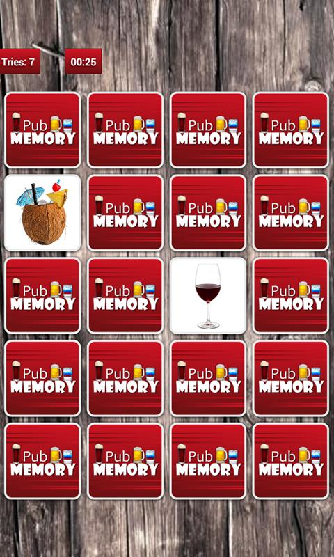 Pub Memory Game - screenshot