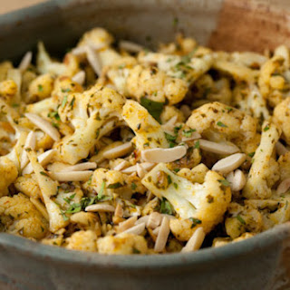 Cauliflower with Curry Butter and Almonds.