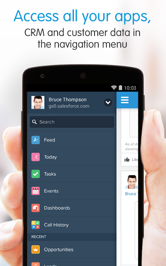 Salesforce1- screenshot
