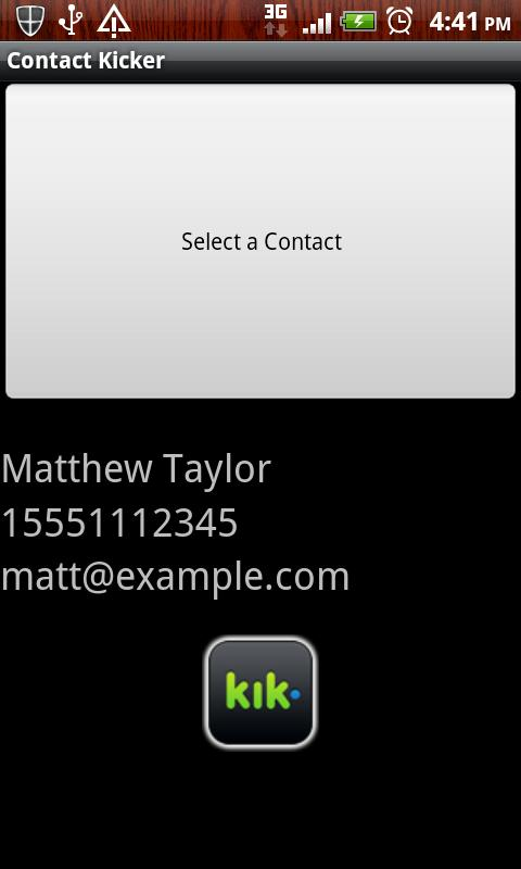 ContactKicker - screenshot