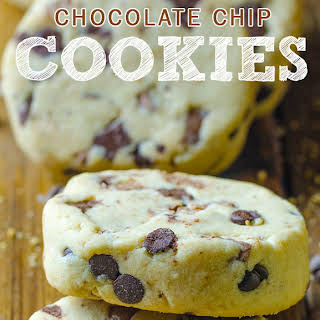 Chocolate Chip Shortbread Cookies with Peanut Butter.