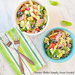 Italian Antipasto Pasta Salad With Basil Vinaigrette