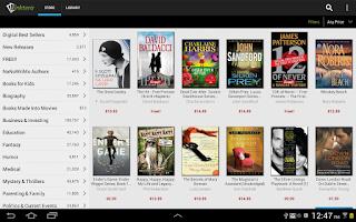 Screenshot of Inktera eBook Store