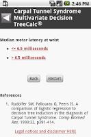 Screenshot of MedCalc 3000 Neurology