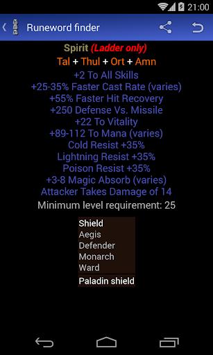 Runeword finder for Diablo II
