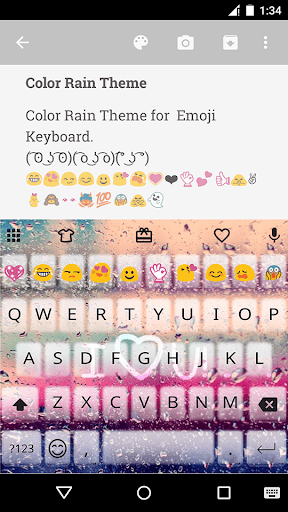 ColorRain EmojiKeyboard Theme