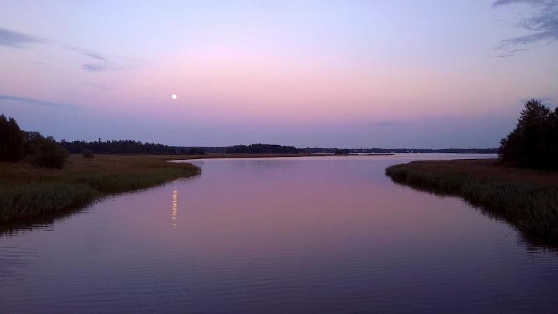 Moonrise near Helsinki, Finland.