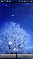 Screenshot of Snow Live Wallpaper Pro