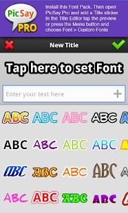 PicSay Pro Font Pack - A- screenshot thumbnail