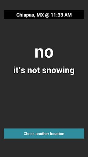 Is It Snow